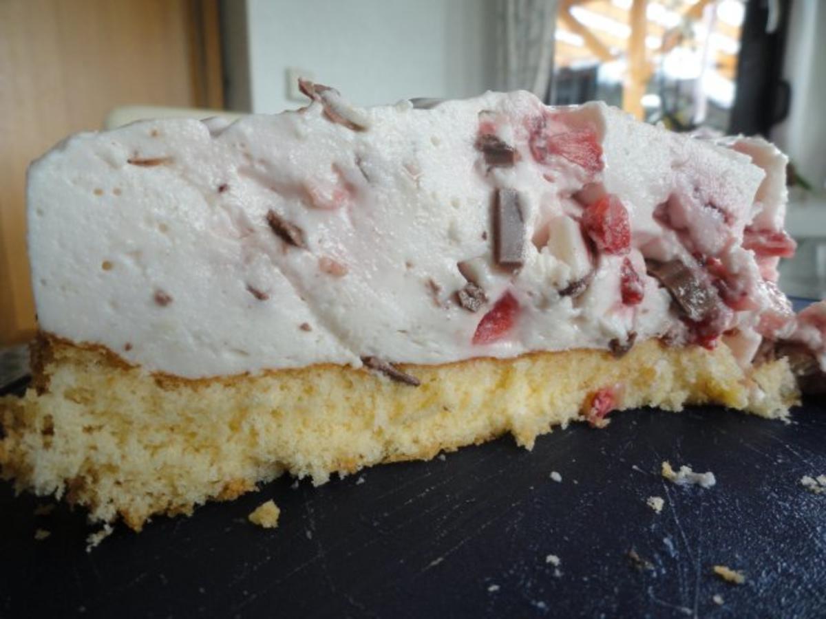Erdbeer yogurette torte mit fondant