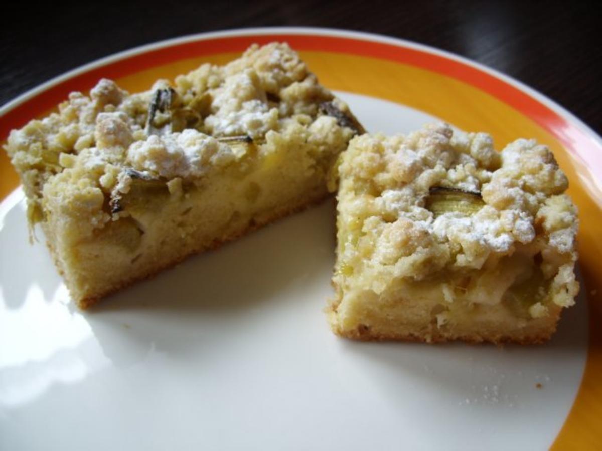 Schneller Rhabarberkuchen Rezept mit Bild kochbar de