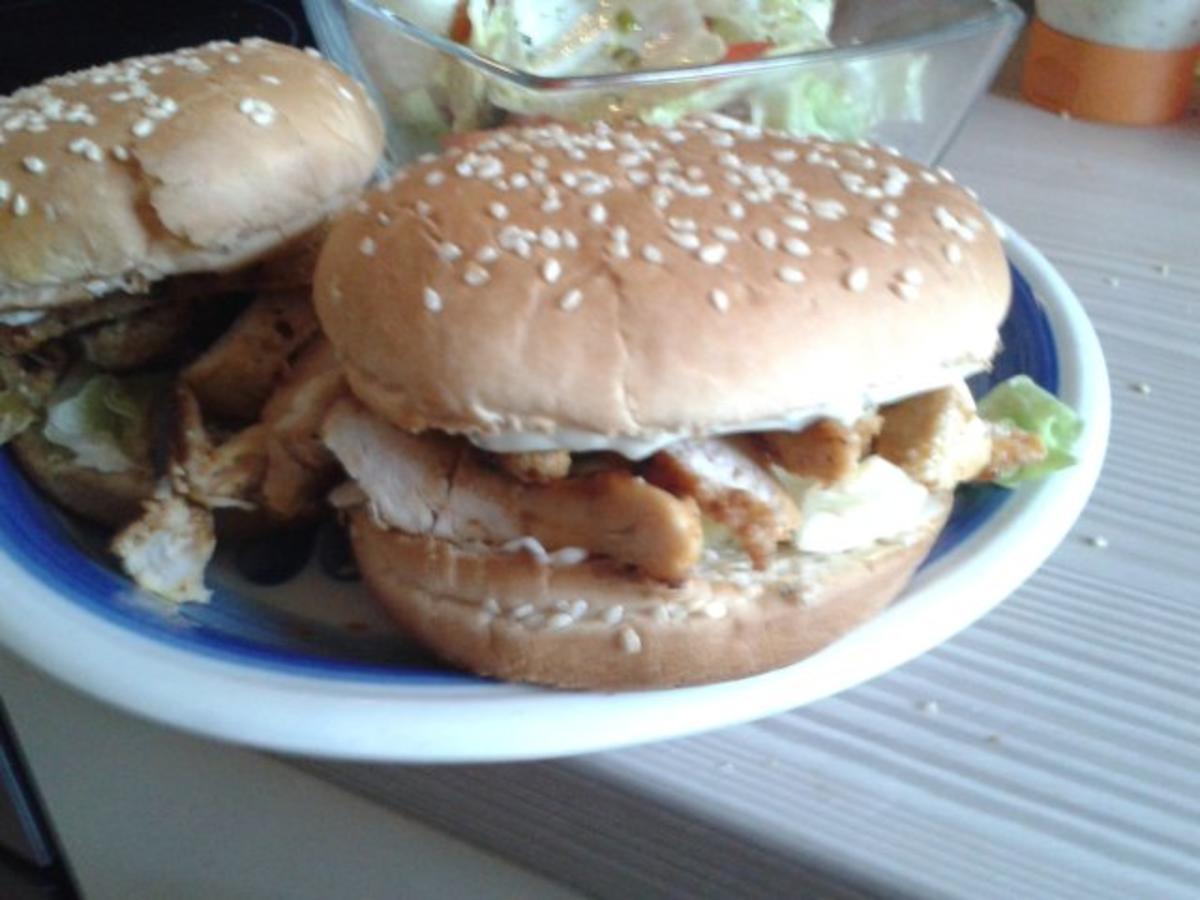 chicken fillet burger rezept mit bild. Black Bedroom Furniture Sets. Home Design Ideas