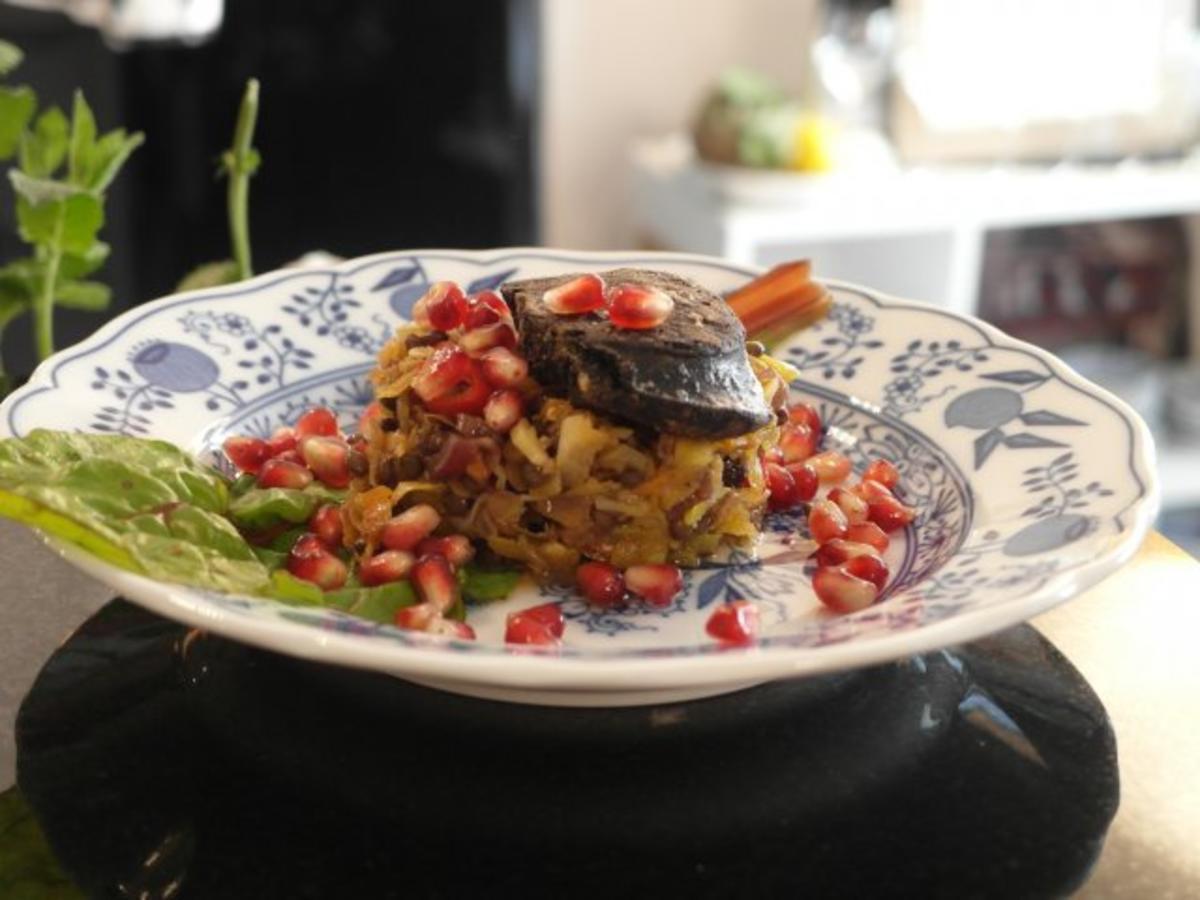 portwein balsamico belugalinsen salat mit gebratener blutwurst und moscow mule rezept. Black Bedroom Furniture Sets. Home Design Ideas