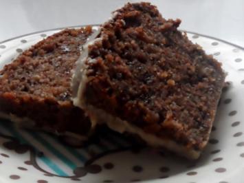 Saftiger nuss kuchen mit schokolade