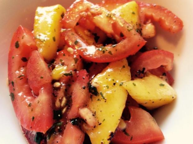 tomate mango salat rezept mit bild. Black Bedroom Furniture Sets. Home Design Ideas