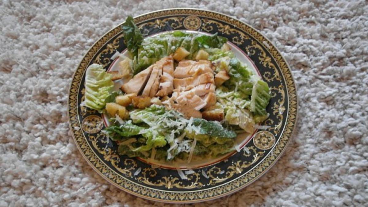 chicken caesar salad rezept mit bild. Black Bedroom Furniture Sets. Home Design Ideas