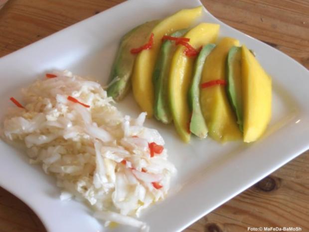 avocado mango salat rezept mit bild. Black Bedroom Furniture Sets. Home Design Ideas