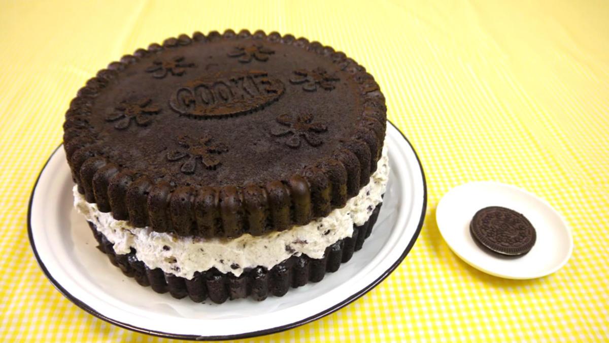 oreo kuchen 39 giant oreo cake 39 rezept mit bild. Black Bedroom Furniture Sets. Home Design Ideas