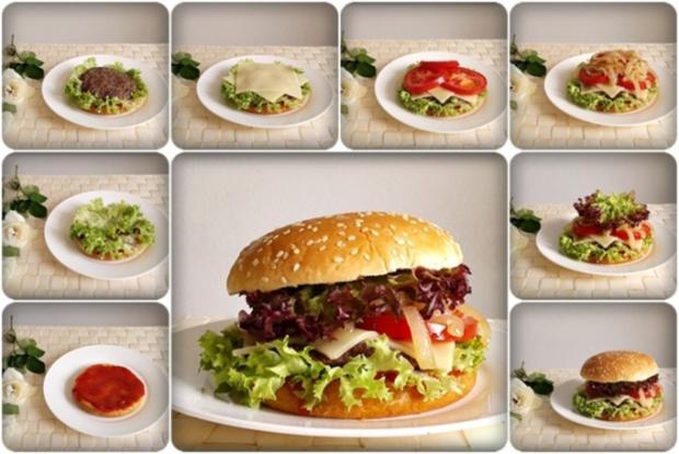 xxl burger mit lollo rosso salat und nach art des hauses rezept. Black Bedroom Furniture Sets. Home Design Ideas