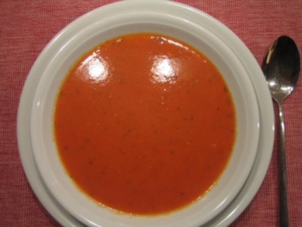 tomatensuppe mit gem sezwiebel und knoblauchzehen rezept mit bild. Black Bedroom Furniture Sets. Home Design Ideas