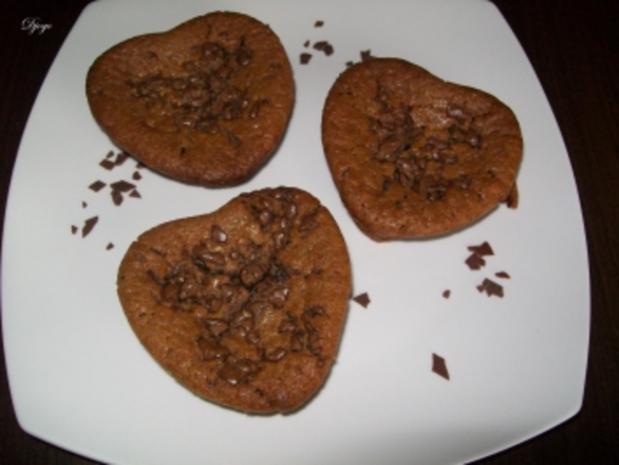 schokoladen herz muffins rezept mit bild. Black Bedroom Furniture Sets. Home Design Ideas