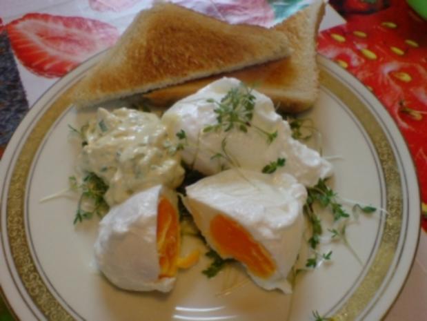 verlorene eier mit kr uter senf mayonnaise rezept. Black Bedroom Furniture Sets. Home Design Ideas