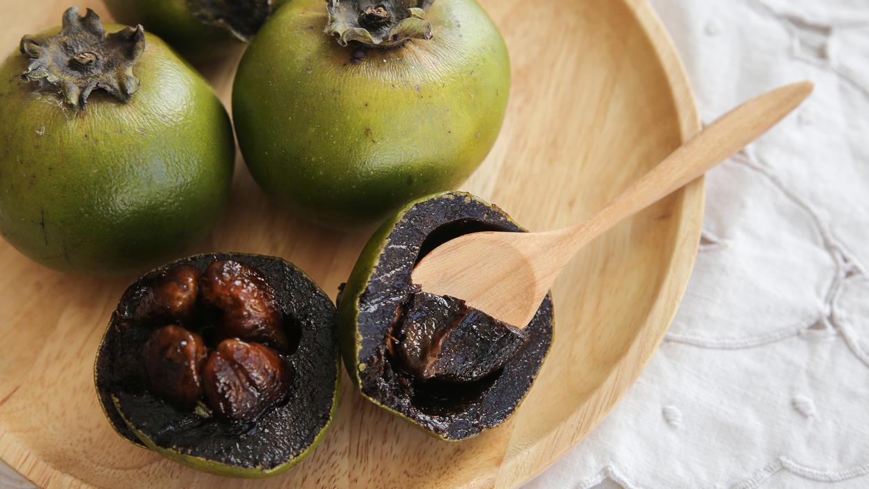 lecker die sapote frucht schmeckt wie schokopudding und. Black Bedroom Furniture Sets. Home Design Ideas