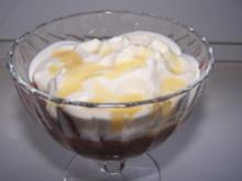 Schokoladenpudding mit Eierlikörsahne - Rezept