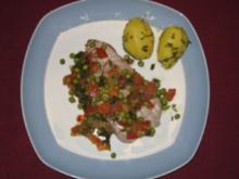 Tunfischsteak mit Erbsen-Minz-Salsa - Rezept