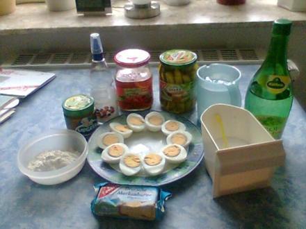 Eier in pikanter Soße! - Rezept
