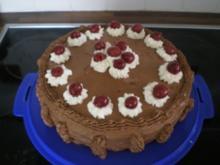 Schoko-Sahne-Kirsch-Torte - Rezept