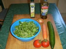 Glasierter Feld- Gurkensalat - Rezept