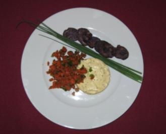 Senfmousse mit Lachstatar - Rezept