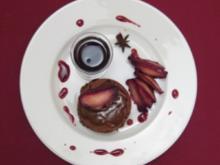 Toffee-Brownie mit Rotwein-Apfel - Rezept
