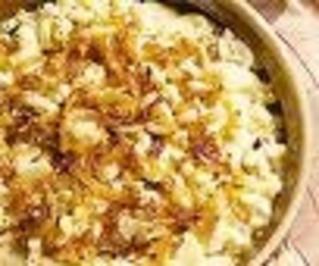 Älplermagronen mit Apfelschnitzen - Rezept