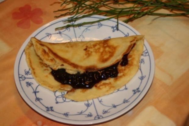 Pfannekuchen mit Blaubeeren - Rezept