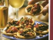Spanische Spinat-Tomaten Pizza - Rezept
