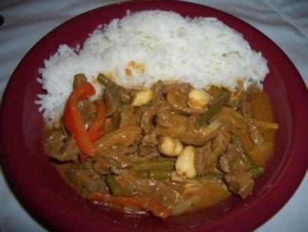 Matsaman Curry mit Rindfleisch - Rezept