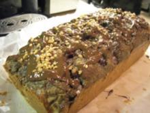 Kuchen: Kirsch-Apfel-Mohnkuchen mit Nüssen und Schokolade - Rezept