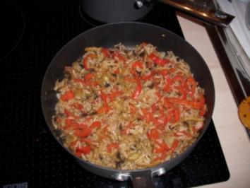Schnelle Reis- und Gemüsepfanne - Rezept