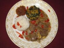 Lammcurry mit Dal, Reis und Nan - Rezept