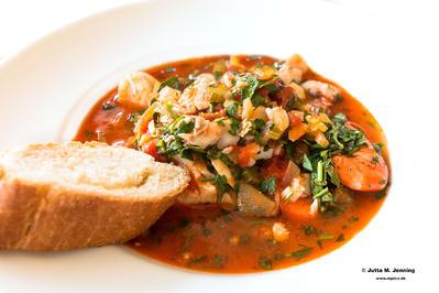 Rezept: Zuppa di Pesce-Fischsuppe mit Garnelen