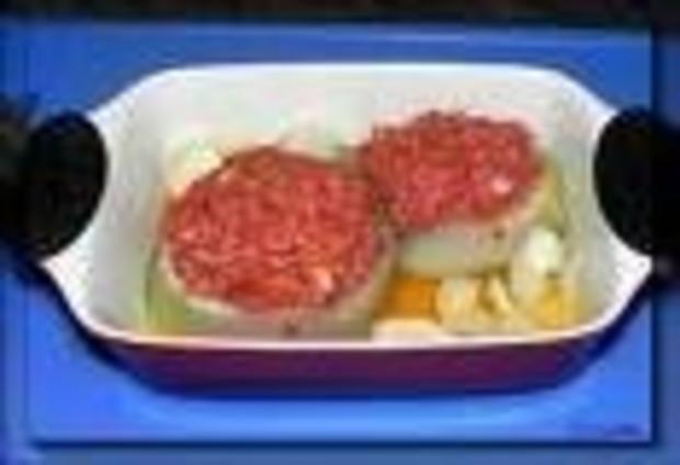 Kohlrabi gefüllt mit Hackfleisch - Rezept
