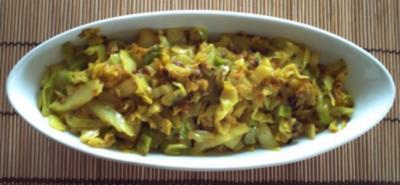 Gebratener Kohl – indisch - Rezept