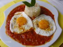 Spanien - Befruchteter Tomatenreis oder Arroz de Cubana - Rezept