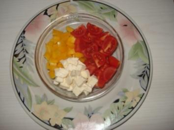 Paprika – Tomaten – Mozzarella Salat - Rezept