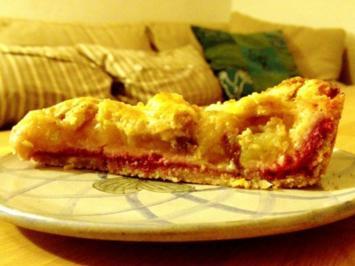 Apfelkuchen mit Himbeer-Marzipan - Rezept
