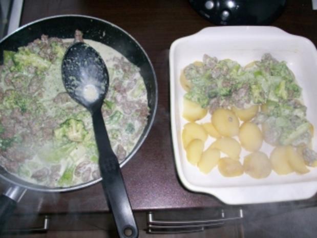 Brokkoli-Kartofel-Hack-Auflauf - Rezept