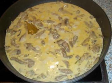Champignon-Rahmgeschnetzeltes - Rezept
