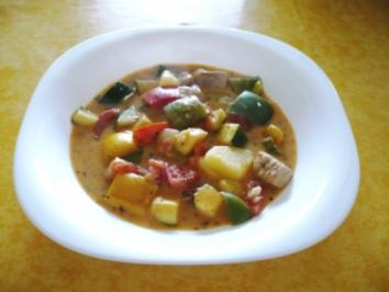Schnitzeltopf mit Paprika und Zucchini - Rezept