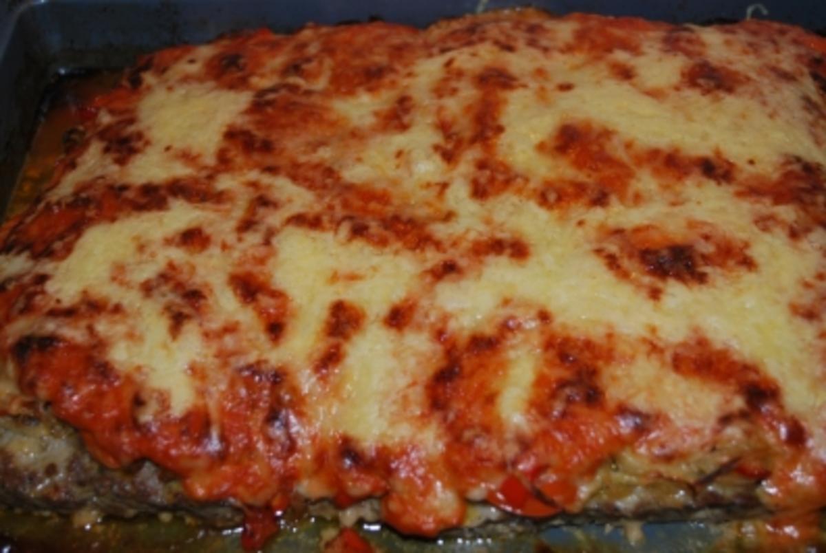 Hack-Pizza vom Blech - Rezept von Anni2000