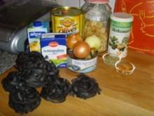 Chili Thunfischsahnesoße mit schwarzen Oliven… - Rezept