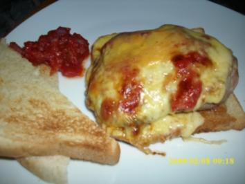 überbackene Schnitzel italien Style - Rezept