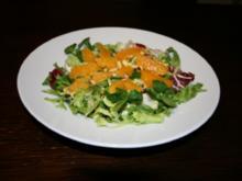 Entenbrust auf Wintersalat mit einer Orangen-Vinaigrette - Rezept