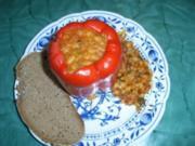 Mit Bohnen gefüllte Paprikafrüchte - Rezept
