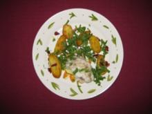 Seeteufel-Saltimbocca mit Tomaten-Rauke-Kartoffeln - Rezept