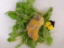 Schweinefilet an Mango mit Blauschimmelkäse überbacken - Rezept