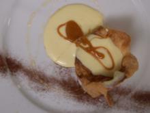 Portugiesische Cremetorte - Vanillecreme u. Karamell im Zimt-Blätterteig - Rezept