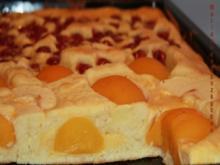 Rahm-Obstkuchen vom Blech - Rezept