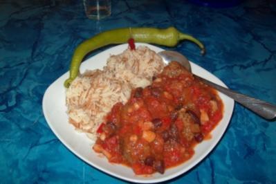 Hackbällchen-Chili - Rezept