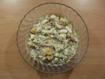 Schnittlauch-Eier-Schinken Salat - Rezept