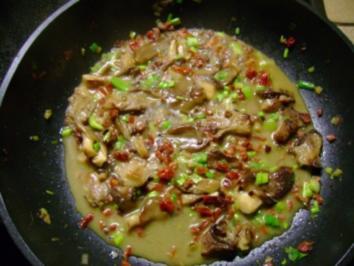 Rezept: Pilze: Austernpilz Ragout  mit Frühlingszwiebeln