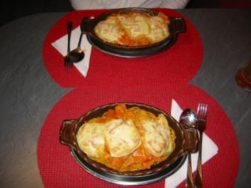 Spaghetti in Schinken- Sahnesoße - Rezept